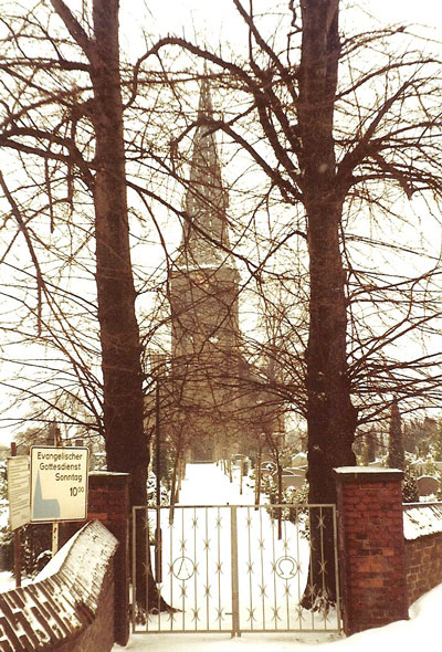 De kerk van Baerl in 1982.