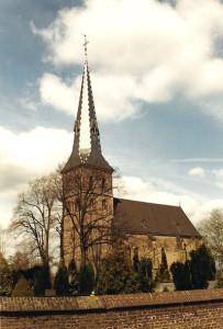De kerk van Baerl, in welke gemeente predikanten Neomagus hebben gestaan van 1599 tot 1785.
