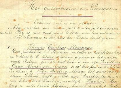 Een van de vele kopieën van het geslachtsregister uit 1764.