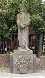 Standbeeld van graaf Hermann von Neuenahr in Krefeld.