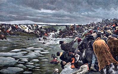 Oversteek door de Berezina.