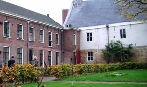 Binnenplaats van de vroegere universiteit van Franeker.