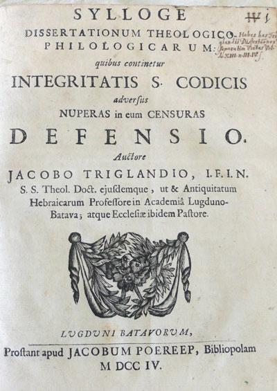 Voorblad van de disputatie van Samuel
