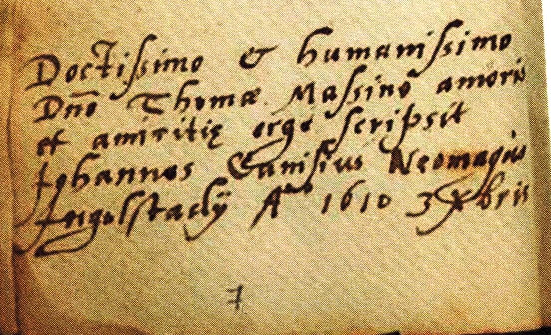 Petrus' neef Johannes ondertekent in 1610 ook met Neomagus.