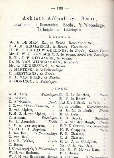 Vermelding van Bertus Neomagus in de almanak.