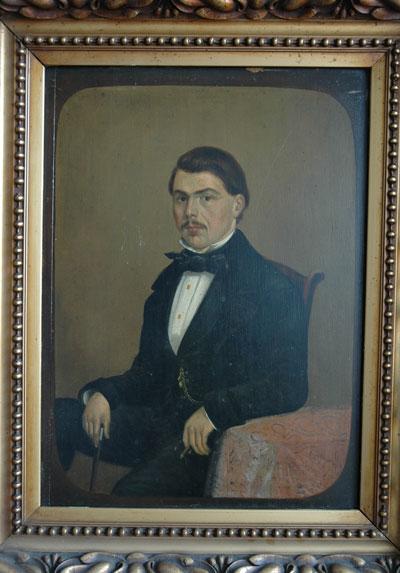 Schilderij van Frits Neomagus, vermoedelijk gemaakt omstreeks 1866.