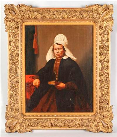 Vrouw in streekdracht, 1867, Historisch Museum Rotterdam.