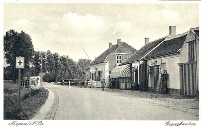 Ansichtkaart van het grenskantoor in Nispen.