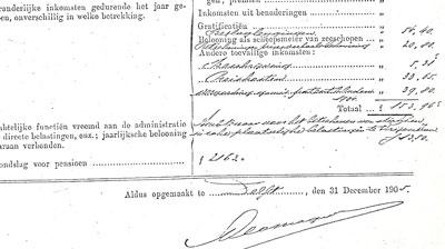 Handtekening van Jan Lodewijk Neomagus, 1905.