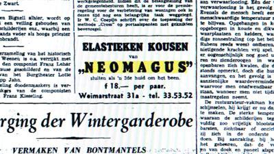 Advertentie van drogisterij Neomagus.