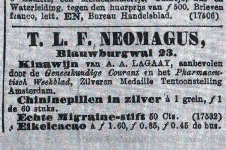 Voor Kinawijn moet je bij Neomagus zijn.