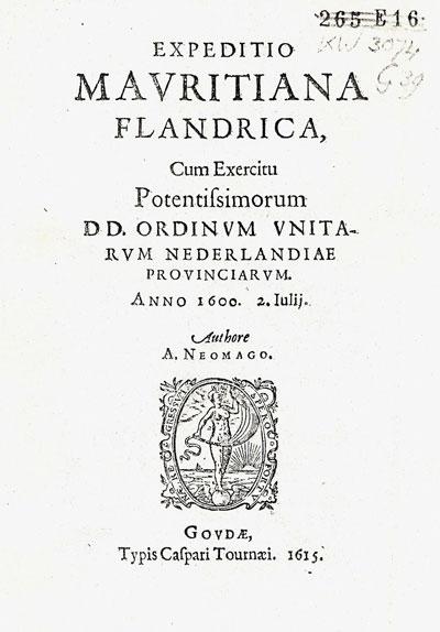 A. Neomago, ofwel Arnoldus Neomagus is in 1615 de auteur van een boekje over de expeditie van prins Maurits in Vlaanderen op 2 juli 1600, eindigend met de Slag bij Nieuwpoort.