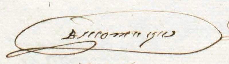Handtekening van Daniel op latere leeftijd.
