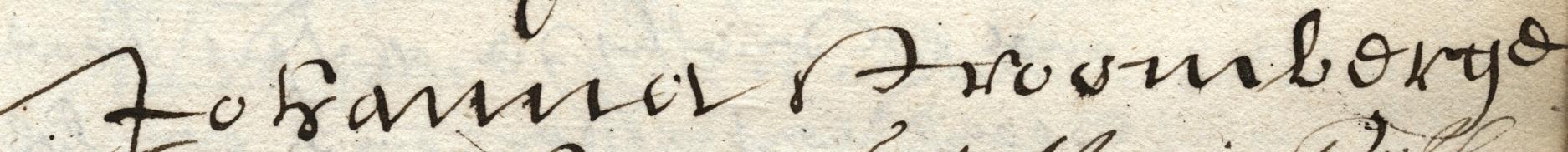 Handtekening van Johanna Stroombergen