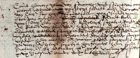 Huwelijksinschrijving van Conr. Hendrikx in 1599.