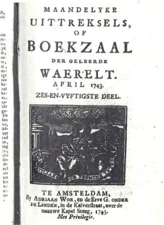 Boekzaal met het artikel over Samuel Neomagus.