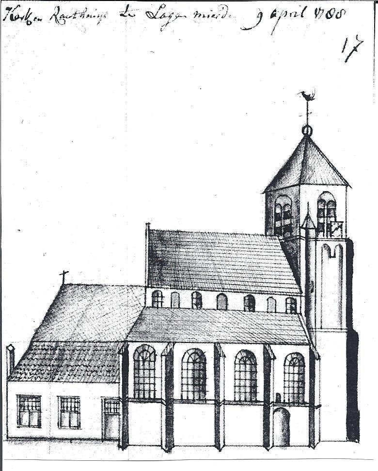 Kerk van Lage Mierde in 1788