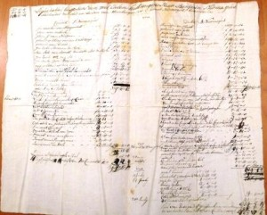 Stuk over de liquidatie van de bezittingen van de broers Benjamin en Thomas met een beschrijving van hun eigendommen.