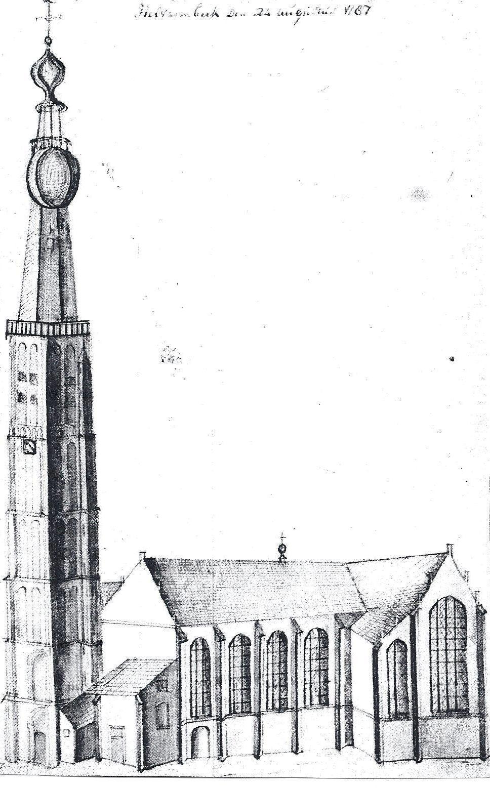 De kerk van Hilvarenbeek ten tijde van dominee Keuchenius.