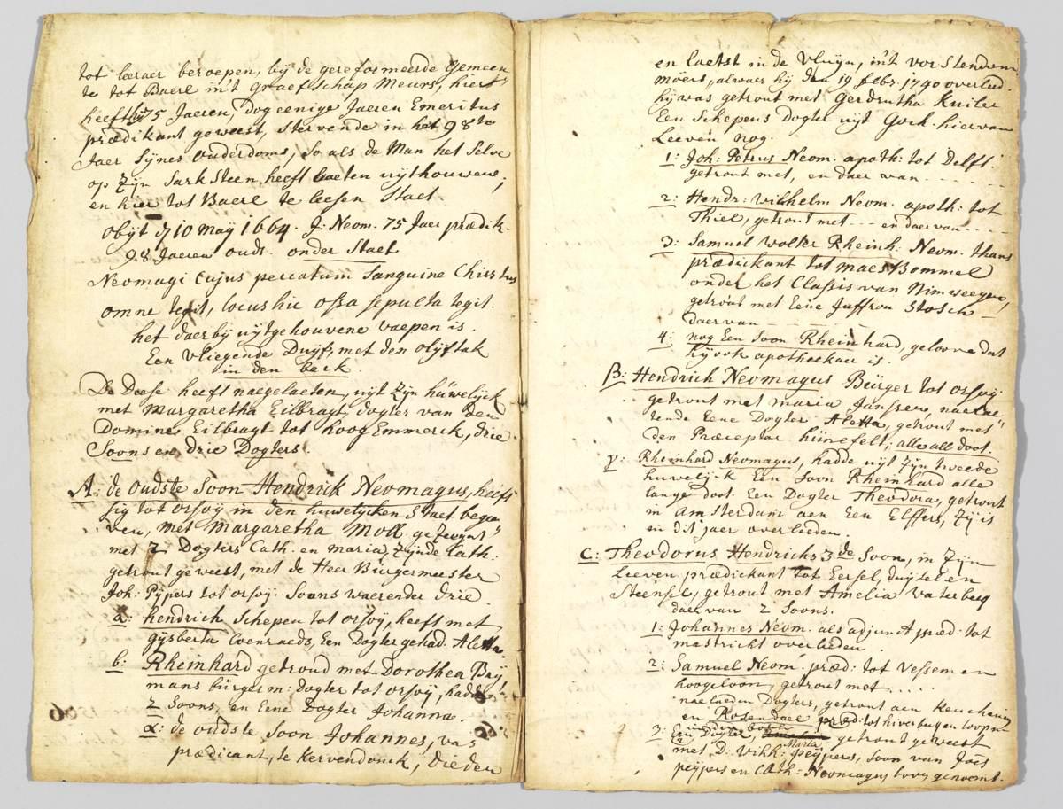 Tweede en derde pagina van het geslachtsregister.
