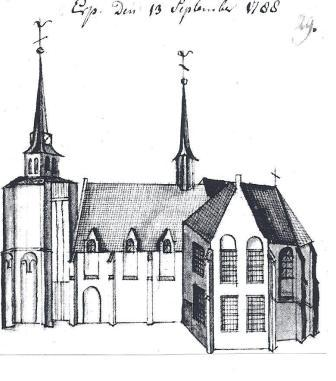 De kerk van Erp in 1788.