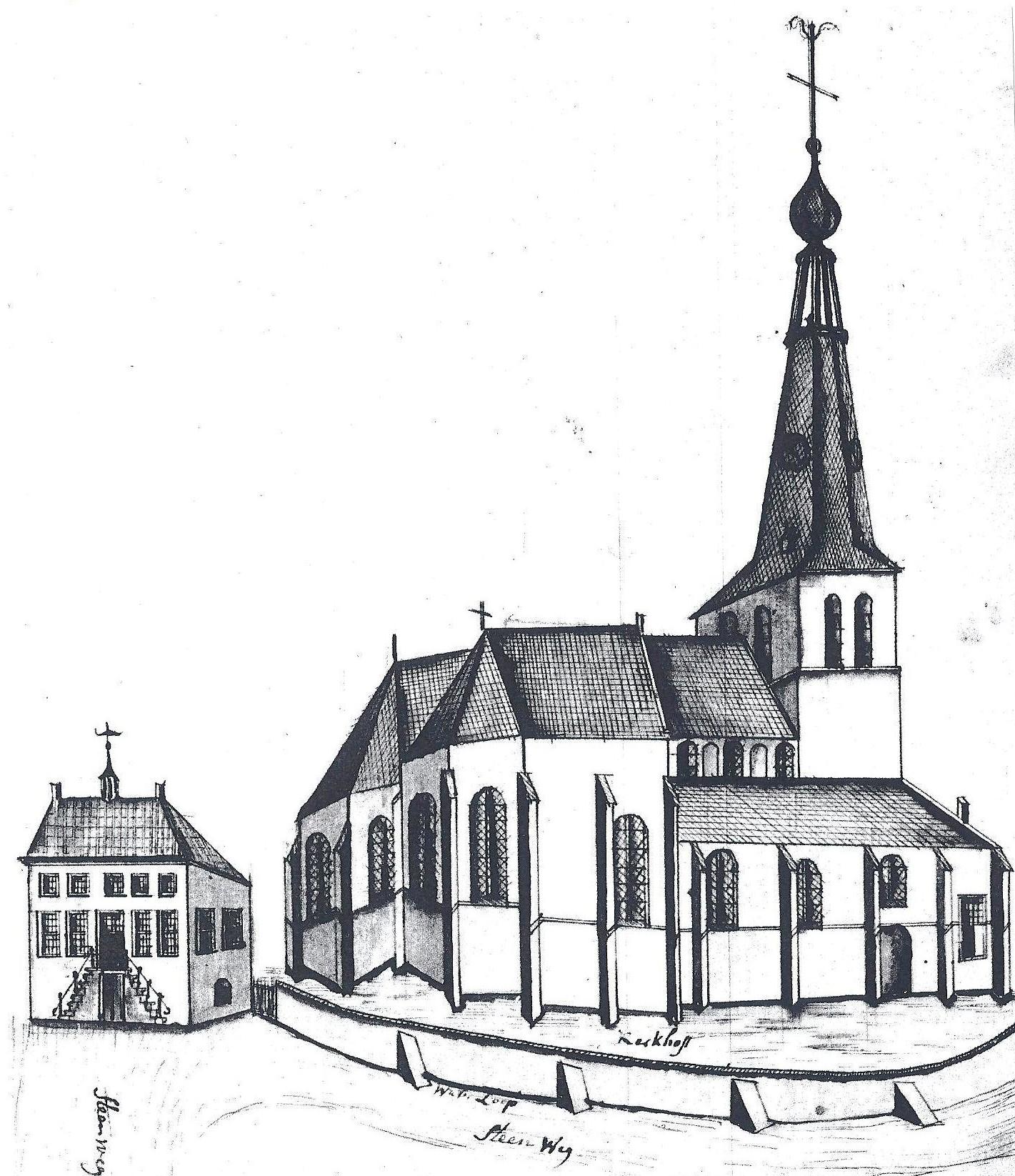 De kerk van Veghel, einde 18de eeuw.