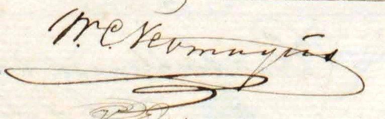 Handtekening van Willem Cornelis Neomagus.