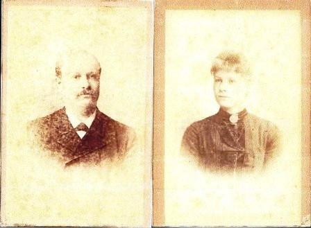 Johan Neomagus en Heiltje Stuart omstreeks 1890.