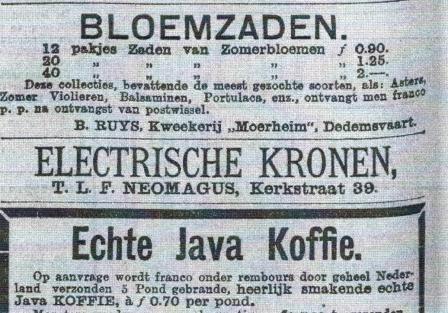 Drogist Neomagus verkoopt ook electrische kronen....