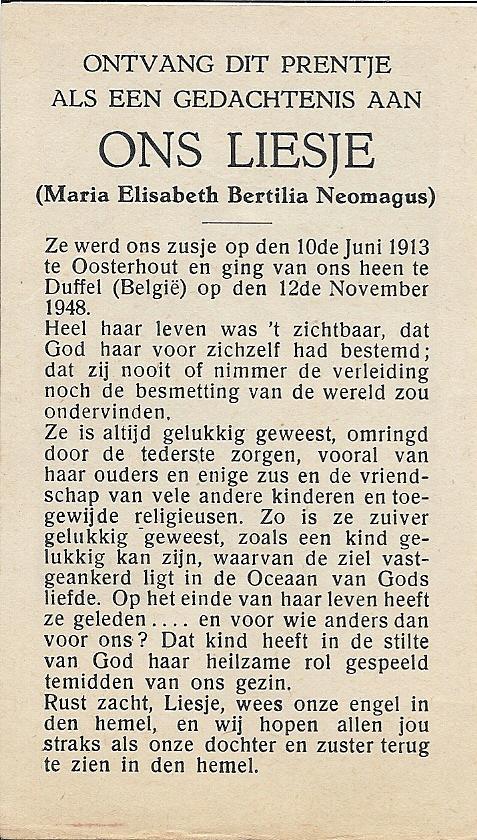 Biedprentje van Liesje, die 35 jaar is geworden.