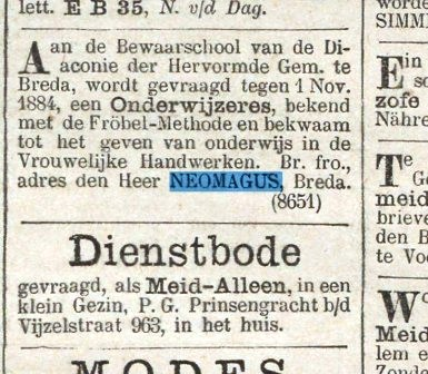 Br. fro. aan de heer Neomagus, Breda