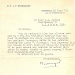 Brief van Bert Neomagus met zijn handtekening, 1953.