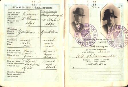 Het paspoort van Cor en Jane.