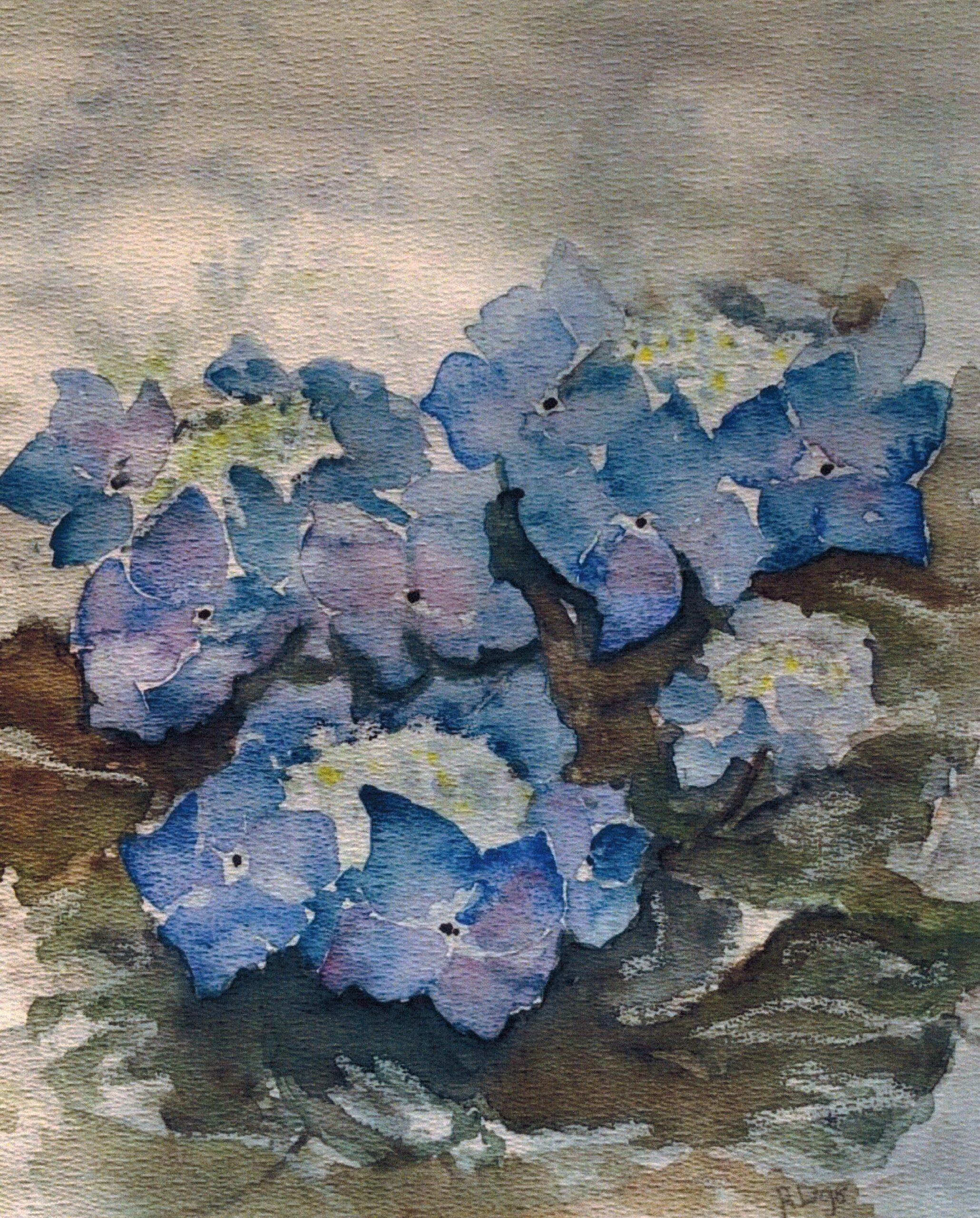 Schilderij van Ans op haar rouwkaart.