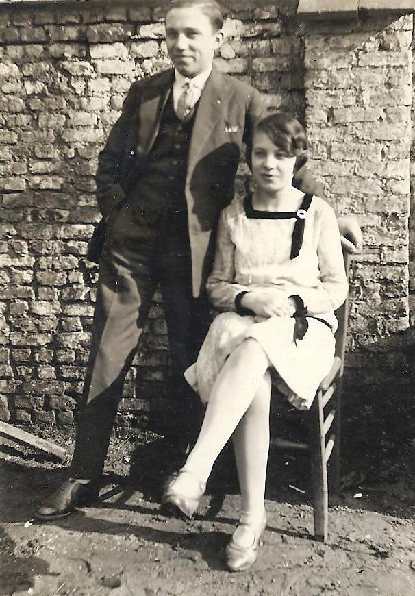 Pol en Martha als 'jong stel'.