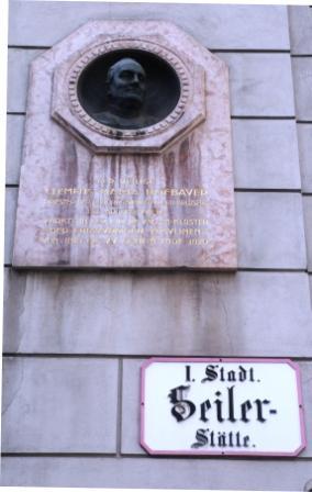 Herinnering aan Hofbauer in Wenen.