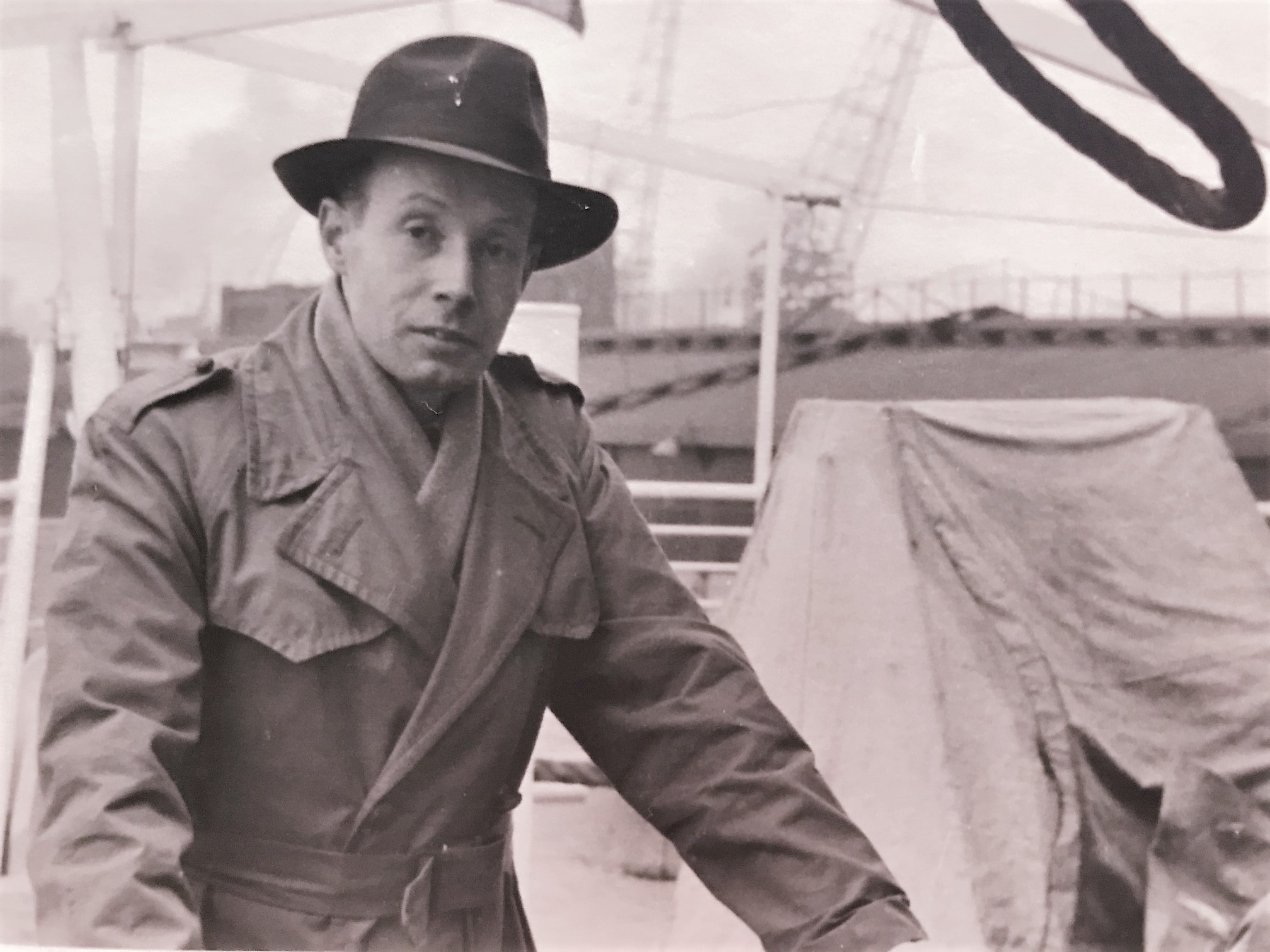 Guus op weg naar Australië, 1952