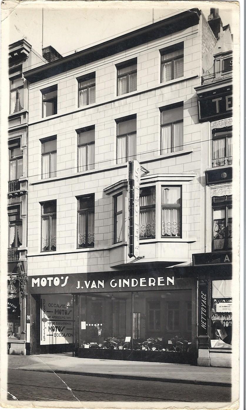 Het garagebedrijf aan de Mechelsesteenweg in Antwerpen.