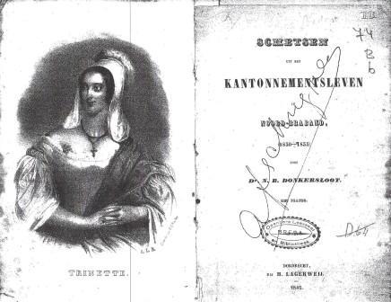 Omslagpagina's van het boekje uit 1845, waarin Willem Neomagus als dichter wordt opgevoerd. De afbeelding links heeft betrekking op een ander artikel in het boek. Van Neomagus staat er geen afbeelding in.