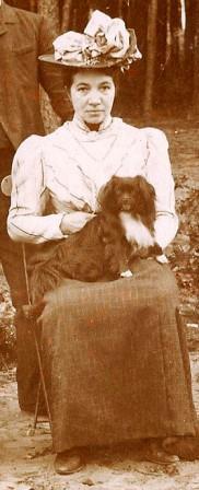 Marie in 1909. Uitsnede van een familiefoto.