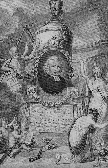 Afbeelding van Jacobus van Pellecom in een boek over de ouderenzorg in Schiedam.