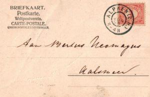 De briefkaart van 'moe' Heiltje aan zoon Bertus
