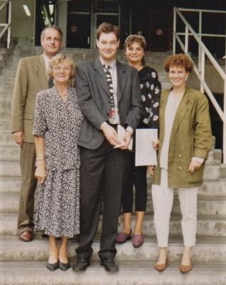 Het gezin Neomagus tijdens een vakantie in Noyons, ooit Neomagus geheten.