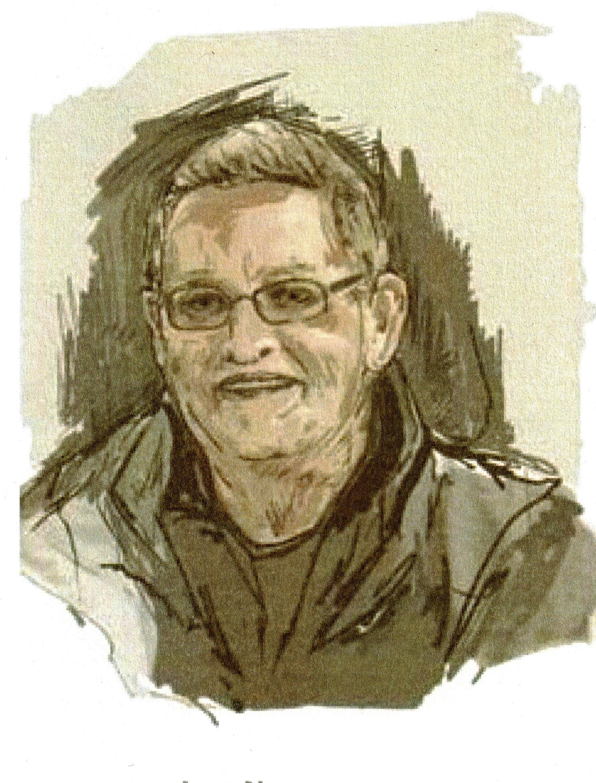 Bidprentje met een afbeelding van Leo, gemaakt door kunstenares Luiduine Wauters.