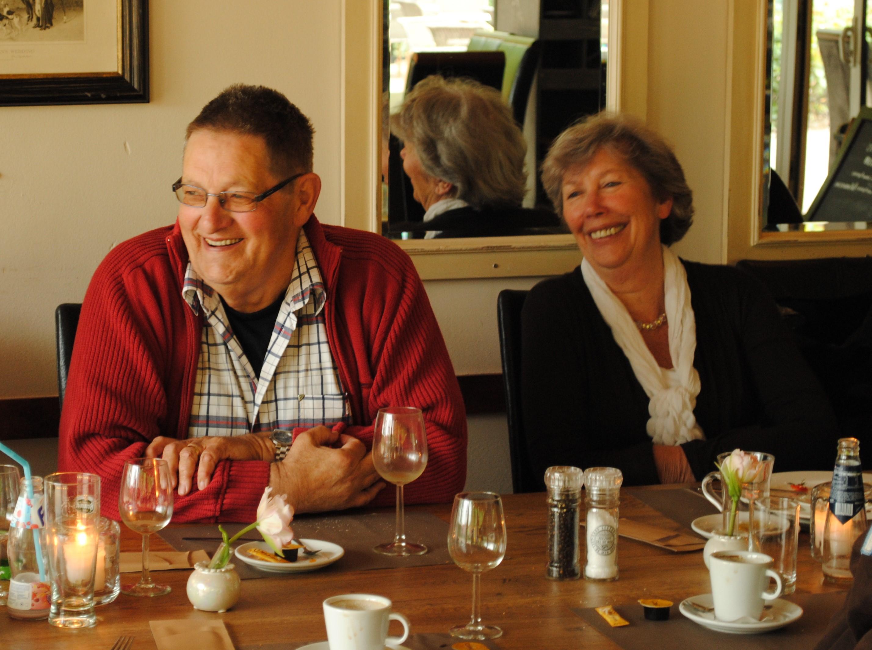 Leo en Annette bij de viering van zijn 65ste verjaardag in 2010.